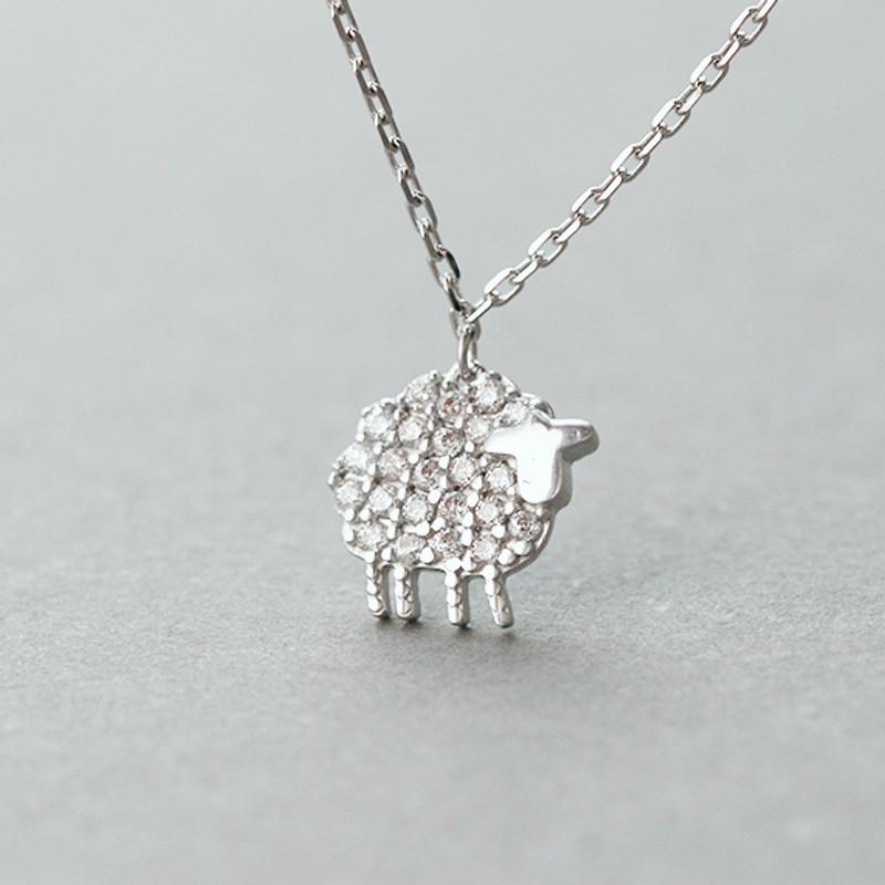 Swarovski Micro Pave Tiny Sheer Necklace Sterling Silver