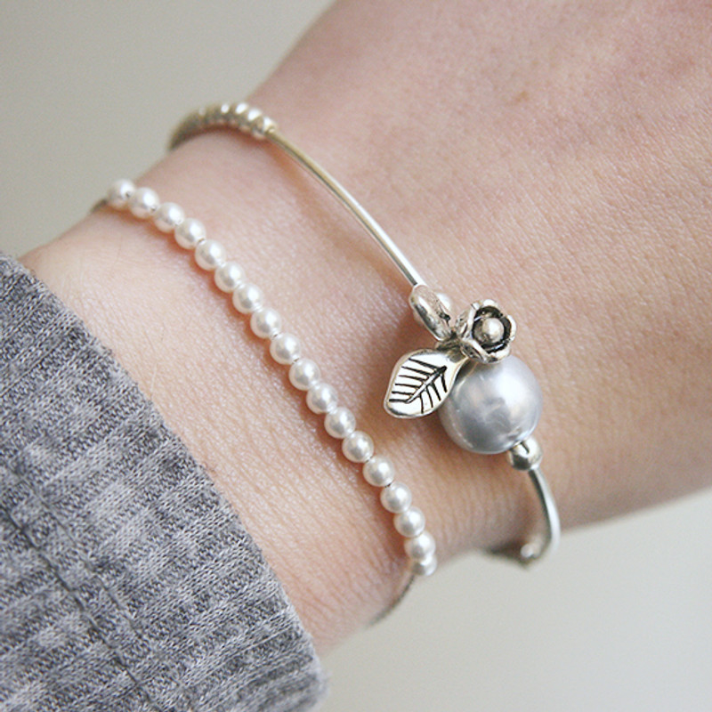 Swarovski Pearl Beaded Bracelet Sterling Silver from kellinsilver.com