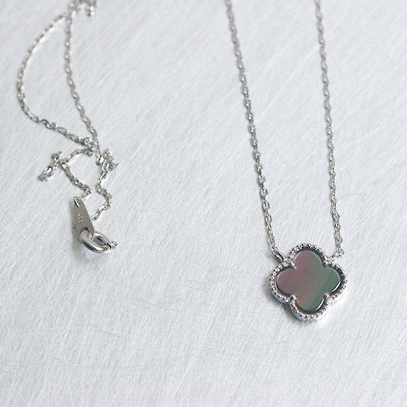 4 Leaf Clover Mother Of Pearl Necklace Sterling Silver from kellinsilver.com
