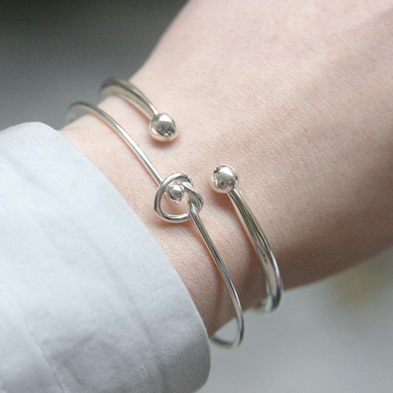 Sterling Silver Double Ball Bracelet Cuff from kellinsilver.com