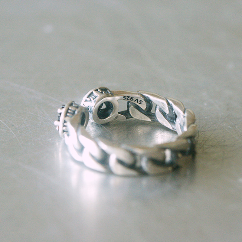 Oxidized Sterling Silver Black Star Cuff Ring from kellinsilver.com