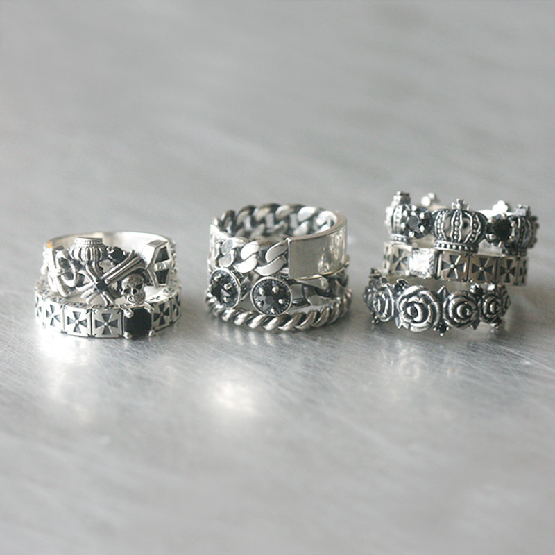 CZ Sterling Silver Celtic Cross Eternity Band Ring from kellinsilver.com