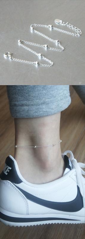 Sterling Silver Five Ball Anklet Bracelet FROM KELLINSILVER.COM