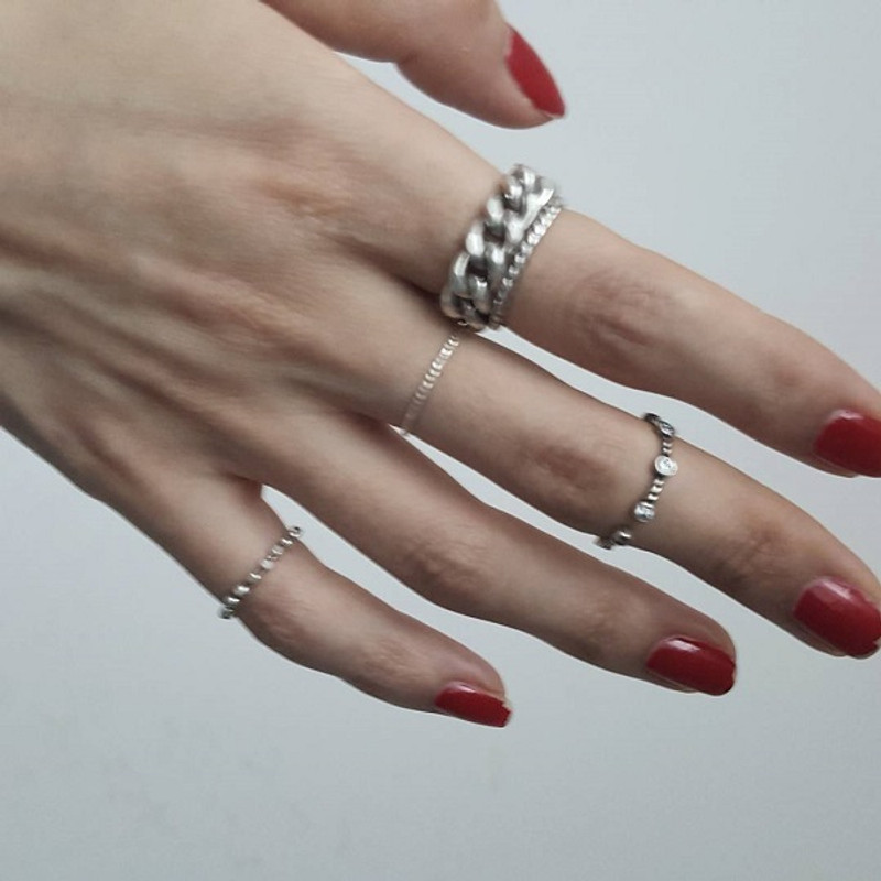 Sterling Silver Cutting Stack Rings Set from kellinsilver.com