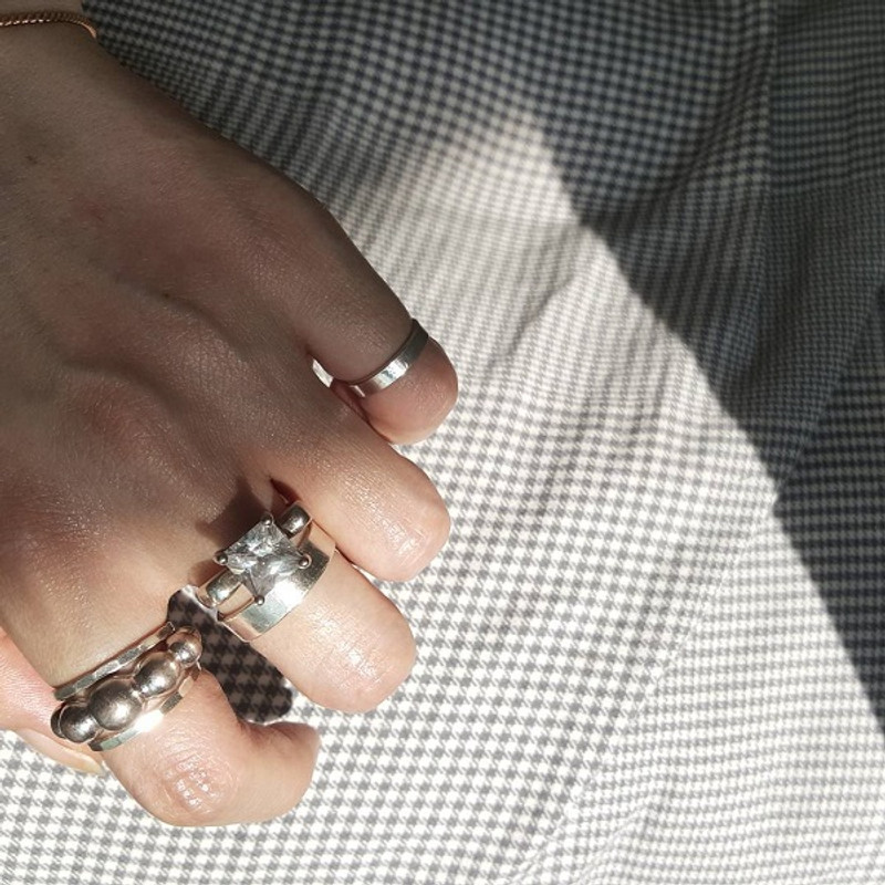 3mm Wide Sterling Silver Midi Ring Cuff from kellinsilver.com