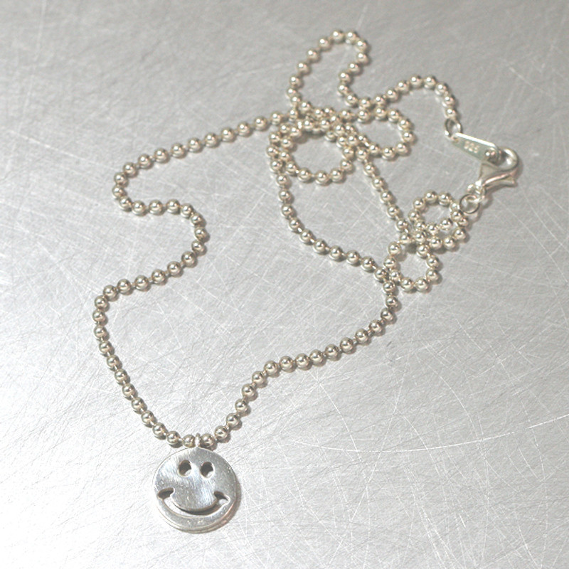 Sterling Silver Smile Ball Necklace from kellinsilver.com