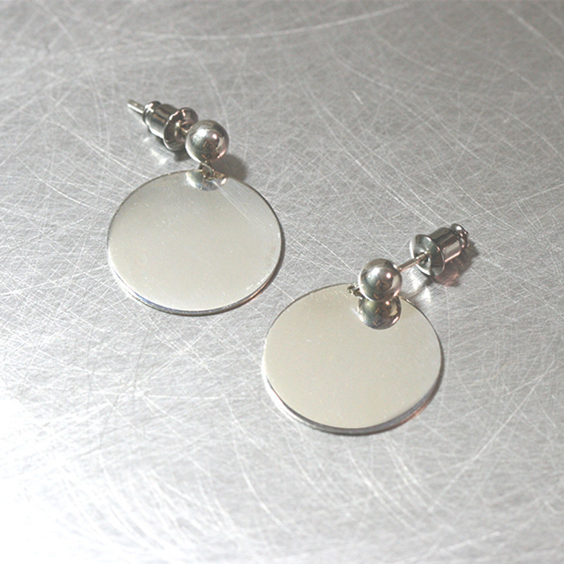 Disc Dangle Earrings Sterling Silver from kellinsilver.com