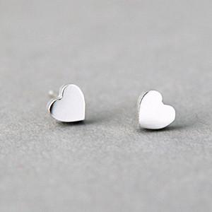 befb098f6861 Tiny Heart Earrings Studs Sterling Silver - kellinsilver.com