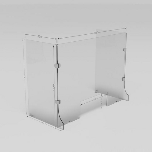 Plexiglas Desk Shield