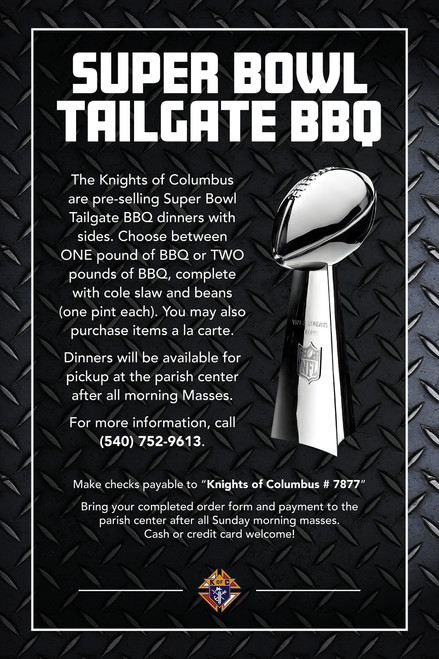 KNIGHTS OF COLUMBUS SUPERBOWL TAILGATING SPECIAL #2