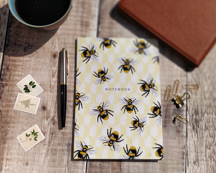 Bees and honeycomb notebook