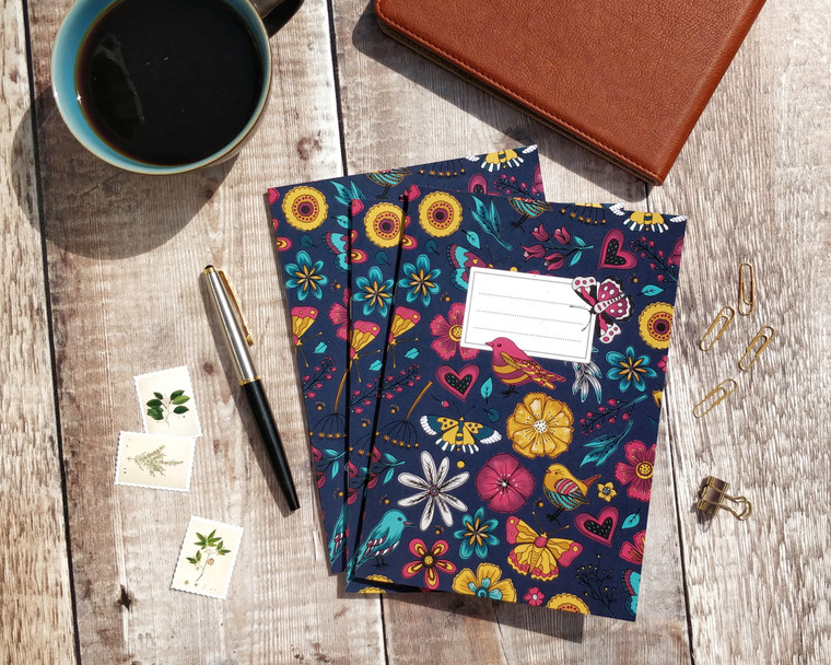 Butterfly and birds notebook