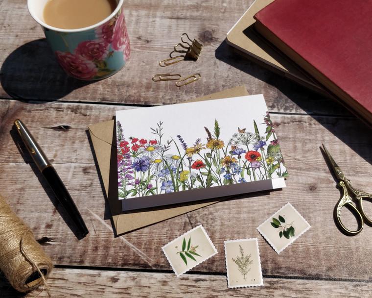 Wildflower garden notecards and envelopes