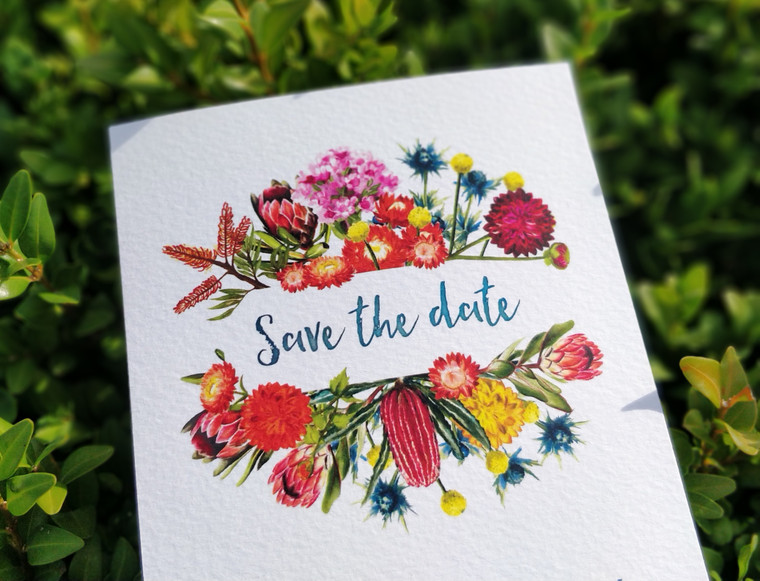 Australian Native Wildflowers Save The Date