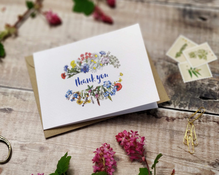 Wild Meadow Folded Thank You Cards & Envelopes