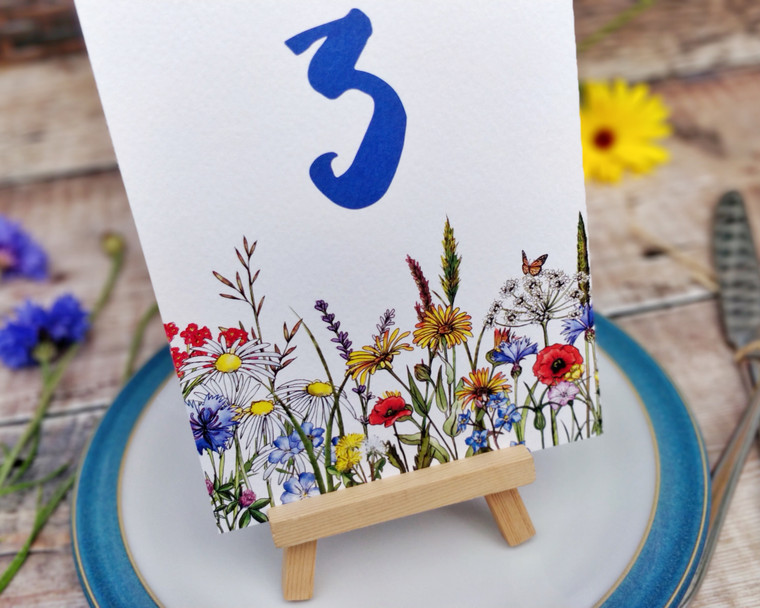 Wild Meadow Table Numbers or Names