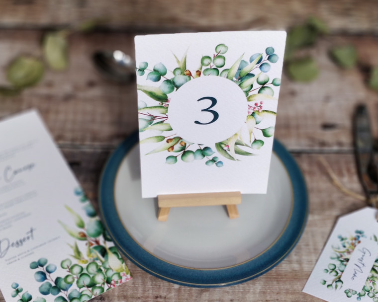 Eucalyptus Table Numbers or Names