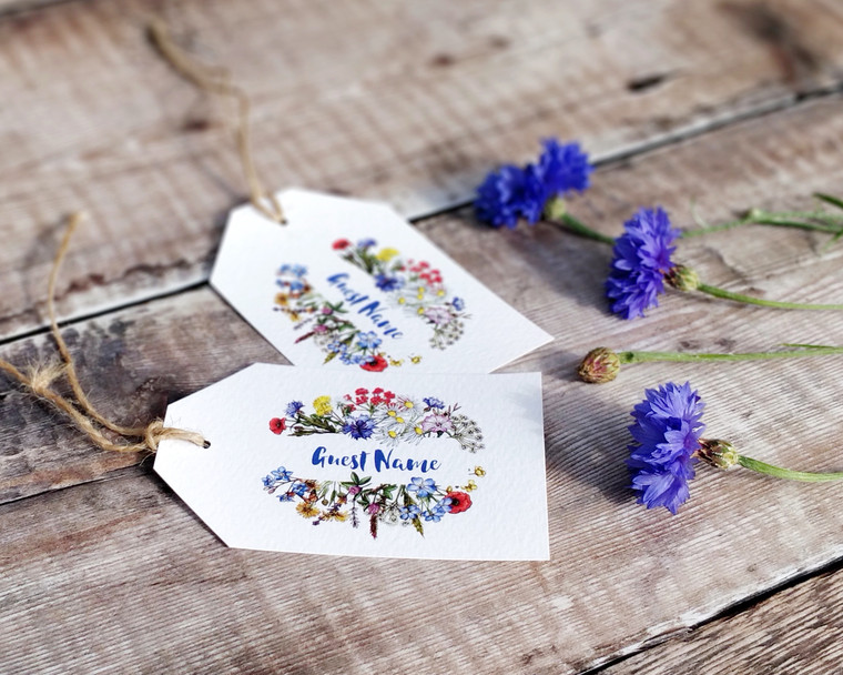 Wild Meadow Luggage Tag Name Cards