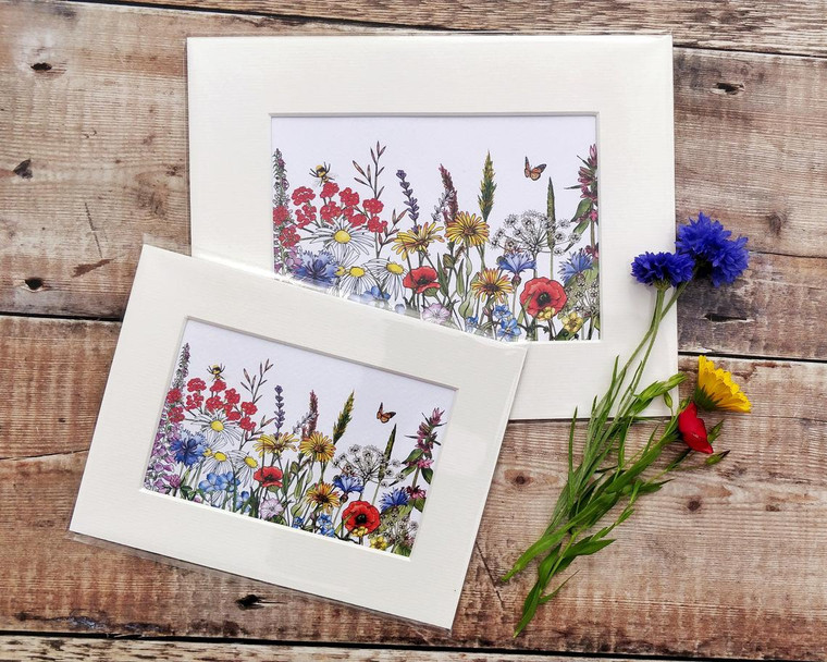 Wildflower mounted print