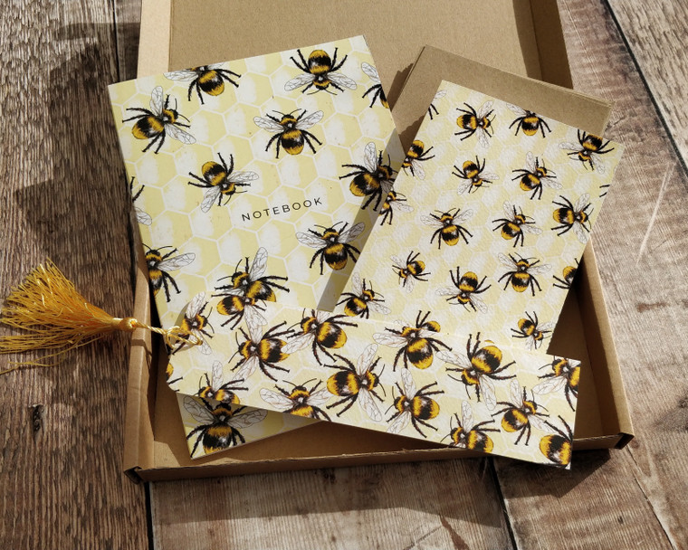 Bees and honeycomb gift set