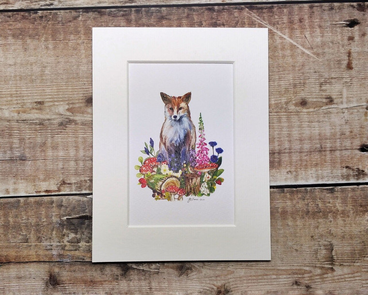 Copy of Woodland Animals Print Mounted Print