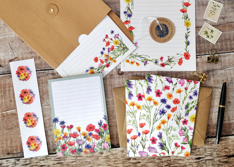 Wildflower Watercolours Letter Writing Set