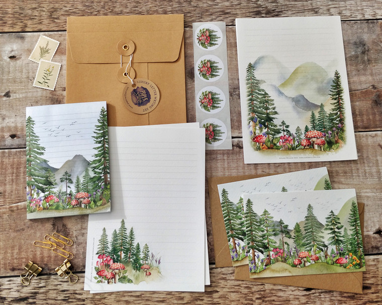 Forest and Mountains Letter Writing Set