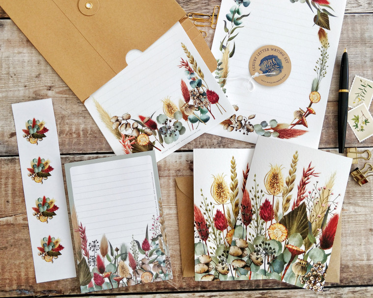Dried Flowers Letter Writing Set
