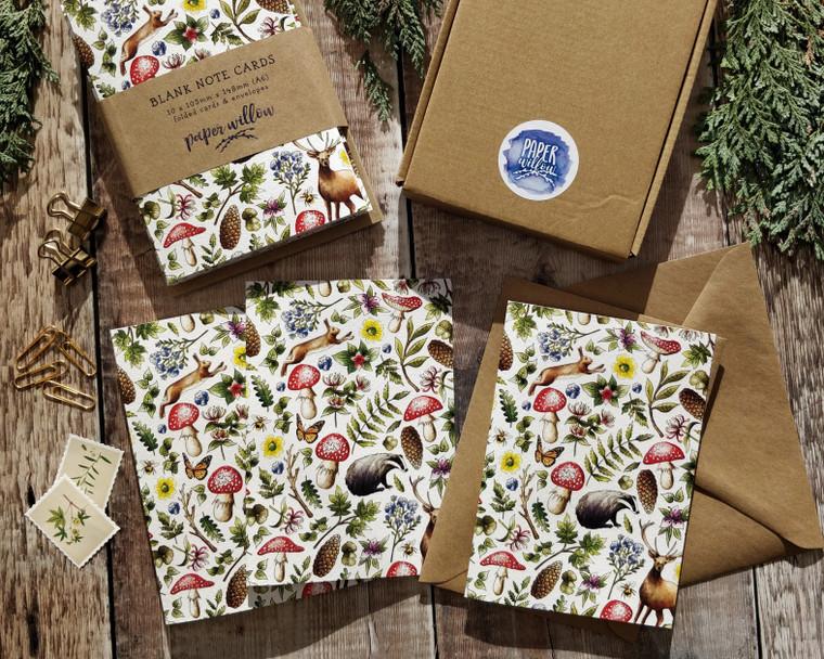 Woodland Cottagecore Folded Notecards & Envelopes
