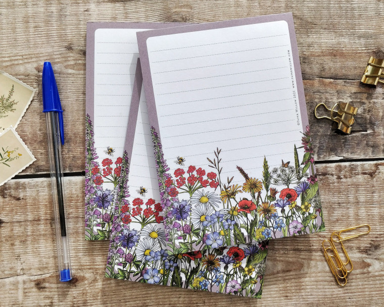 A6 Wildflower Meadow Memo Notepad