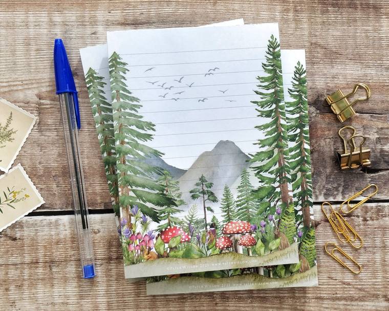 A6 Forest Watercolours Memo Notepad