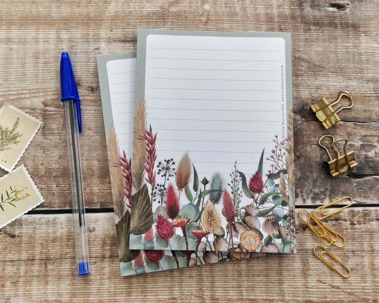 A6 Dried Flowers Memo Notepad