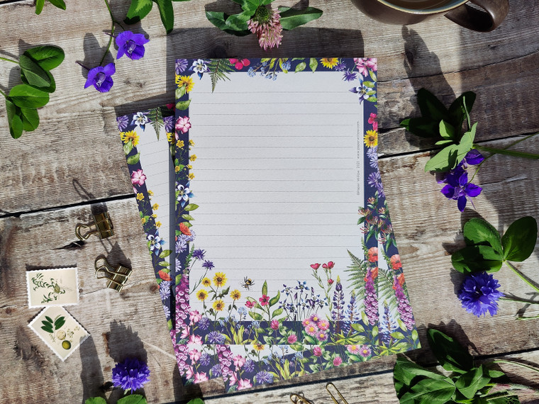 A5 Wildflower Watercolours Memo Notepad