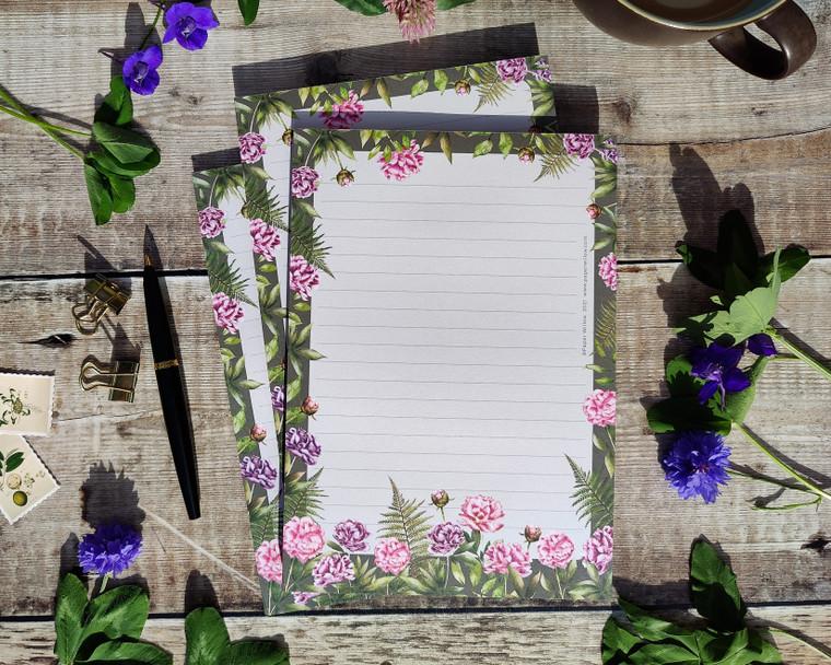 A5 Peony Flowers Memo Notepad