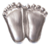 Silver finish precious Feet Lapel Pin