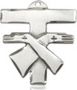 Franciscan Crossed Arms Tau in Pewter, Sterling Silver, or Gold Finish
