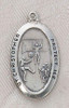 Saint Christopher Soccer Boy Medal On Chain