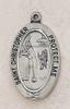 Saint Christopher Softball Medal On Chain