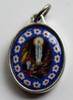 """Our Lady of Lourdes """"Murano Style"""" Medal"""