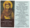 St. Francis Of Assisi Peace Prayer Card