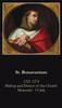 Saint Bonaventure prayer card with quotes from saint