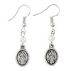 Divine Mercy and Crystal Bead Dangle Earrings