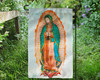 Our Lady of Guadalupe Garden Flag