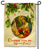 Vintage Madonna with Holly Outdoor Garden Flag
