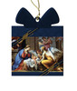 Nativity by Charles Poerson Wood Ornament