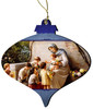 Adoration (Mary and Jesus with Children) by Guiseppe Magni Wood Ornament
