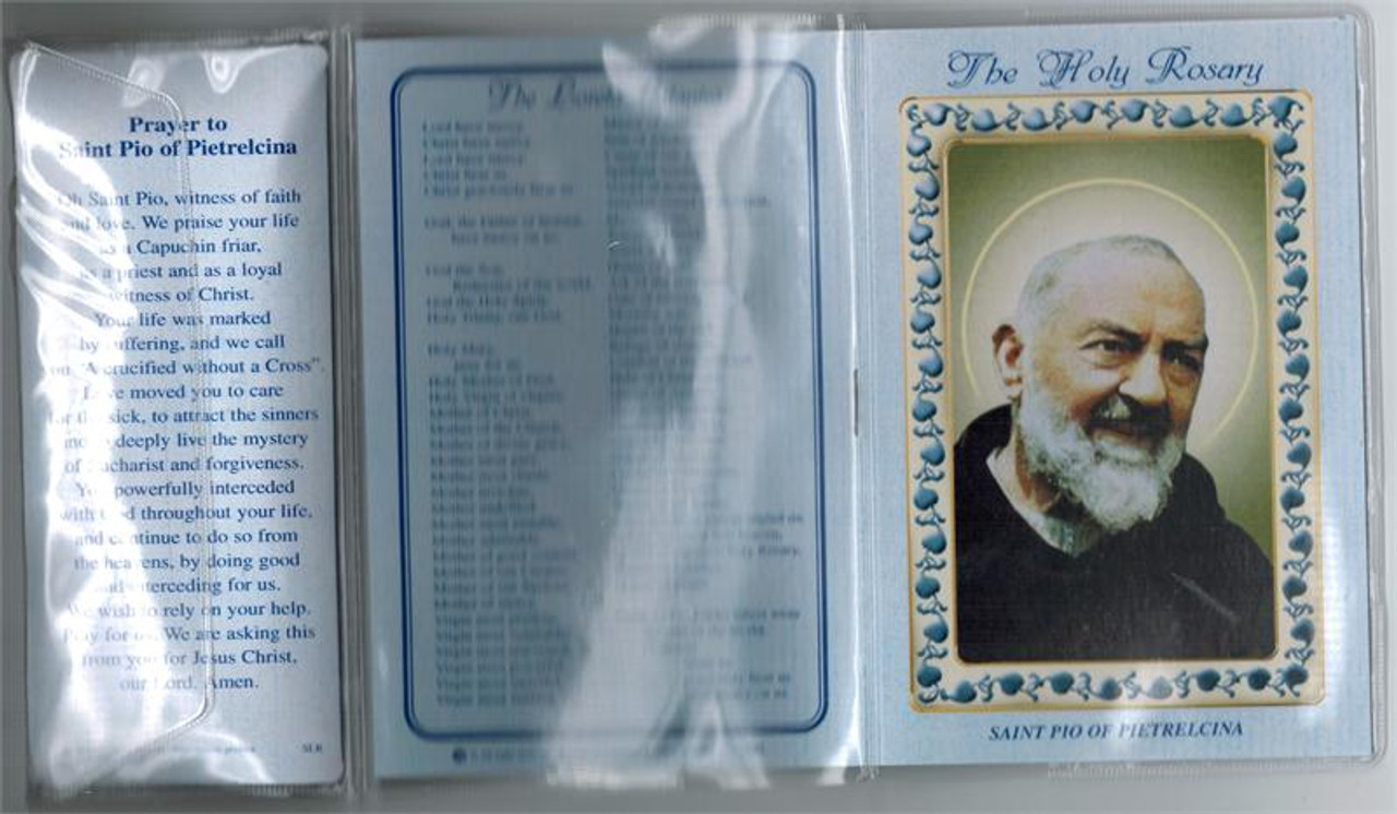 Saint Padre Pio Rosary and How to Pray the Rosary Booklet