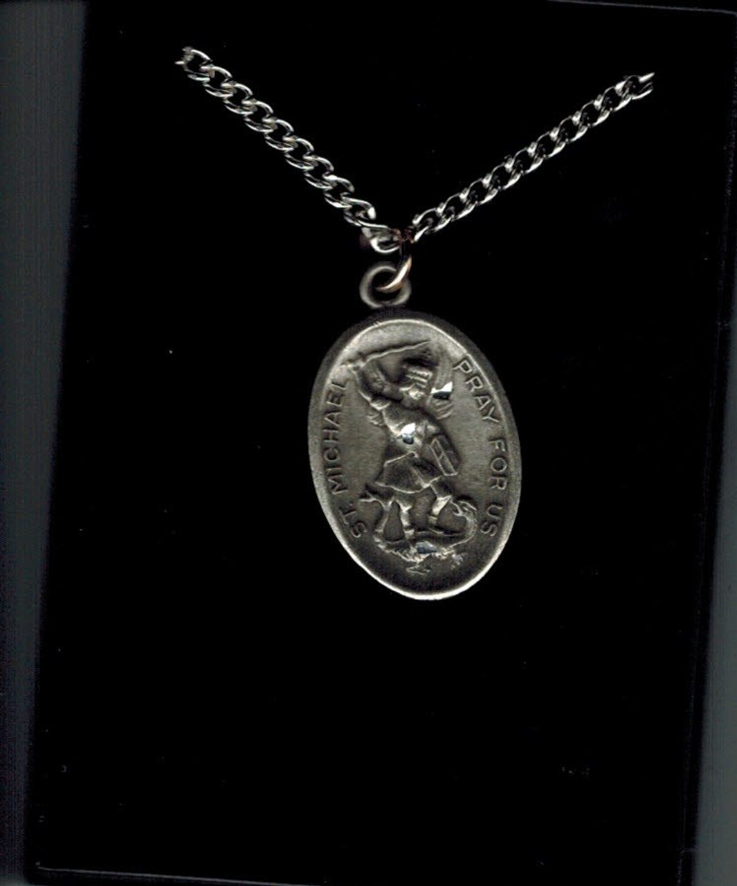 St. Michael / Guardian Angel Pewter Pendant on Chain