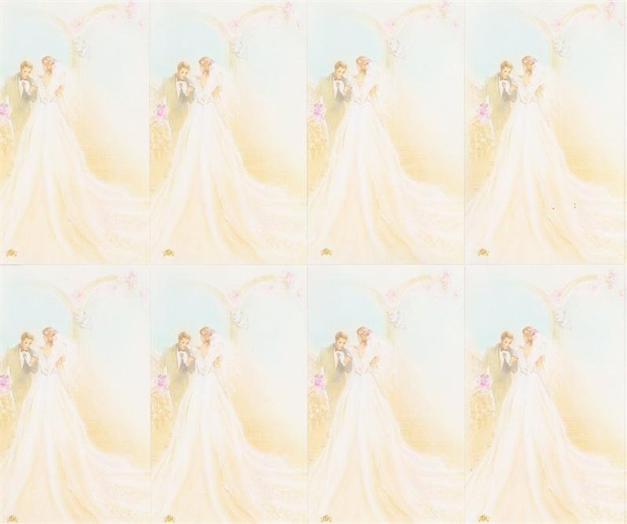 Custom Print Wedding - Bride and Groom Prayer Cards (Custom set of 8)