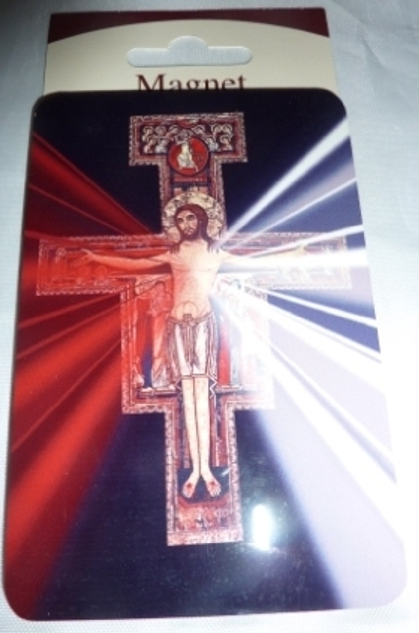 San Damiano Divine Mercy Magnet